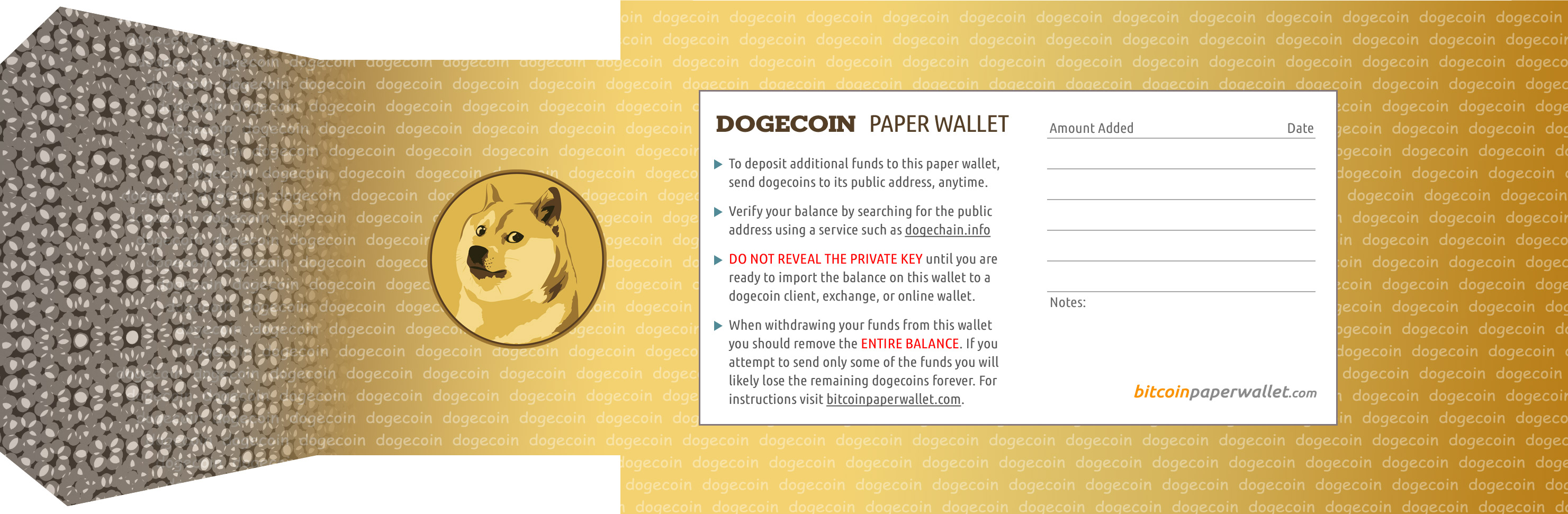 Dogecoin paper wallet generator  Wow! Many coin  Such shiny