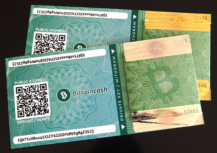 Bitcoin Cash Paper Wallets
