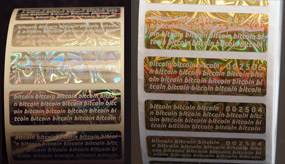 Silver and Gold Stickers